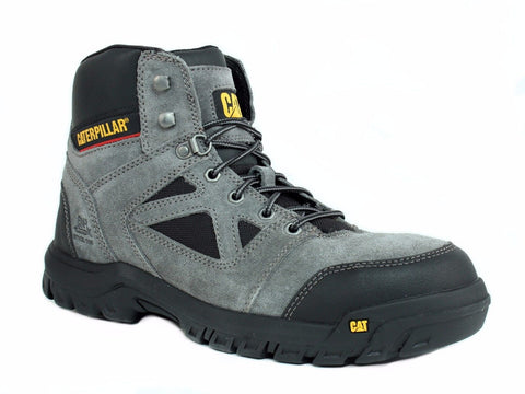 Caterpillar PLAN ST EH Steel Toe Men's Work Hiking Casual Charcoal Leather Boot