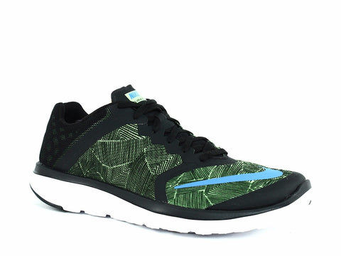 Nike Men's FS LITE RUN Running Athletic Training Shoe Sneaker Green Black White