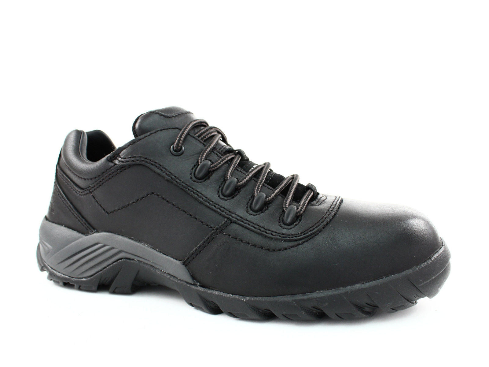 Caterpillar Terbium Composite Toe EH Mens Work Safety Black Leather Shoes