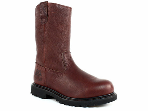 Caterpillar MITCH Mid Cut Men's Slip Resistant Work Casual Chocolate Leather Boot