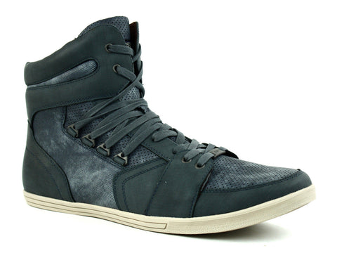Kenneth Cole WHAT I GOT SY HI Top Men's Shoes, Navy Nubuck Sneakers