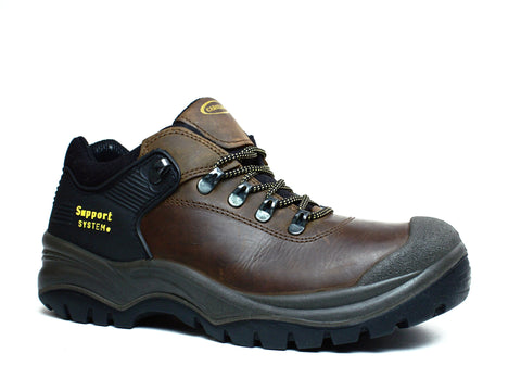 Carolina Steel Toe Mens Brown Leather Work Shoes