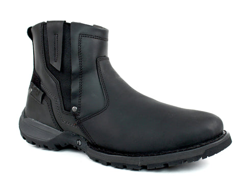 Caterpillar ADNER Chelsea Black Men's Casual Fashion Leather Boot