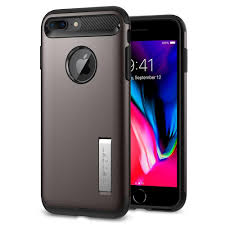 SPIGEN - IPHONE 7 8 PLUS SLIM ARMOR CASE W/ KICKSTAND - GREY