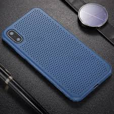 BASEUS - IPHONE X MESH HOLE CASE - BLUE