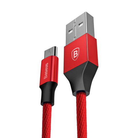 BASEUS - MICRO YIVEN USB CABLE 100CM - RED