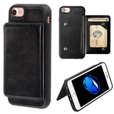 Black Flip Wallet Executive Protector Cover (TPU Case with Snap Fasteners)(with Package)