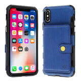 Cube�� - Apple iPhone X / Xs - Blue Hybrid Wallet with Credit Card Pouch