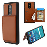 Brown Flip Wallet Executive Protector Cover(TPU Case with Snap Fasteners)(with Package)
