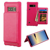 Hot Pink Flip Wallet Executive Protector Cover(TPU Case with Snap Fasteners)(with Package)
