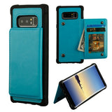Blue Flip Wallet Executive Protector Cover(TPU Case with Snap Fasteners)(with Package)