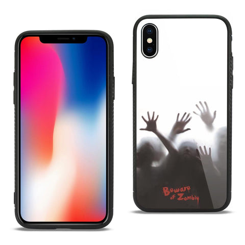 iPhone X iPhone 8 Plus/ 7 Plus/ 8 & 7 Hard Glass & TPU Case - Beware of Zombies