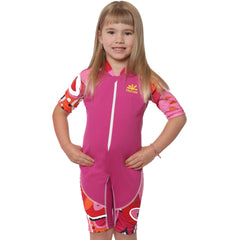 nozone ultimate kids one piece swimsuit on model