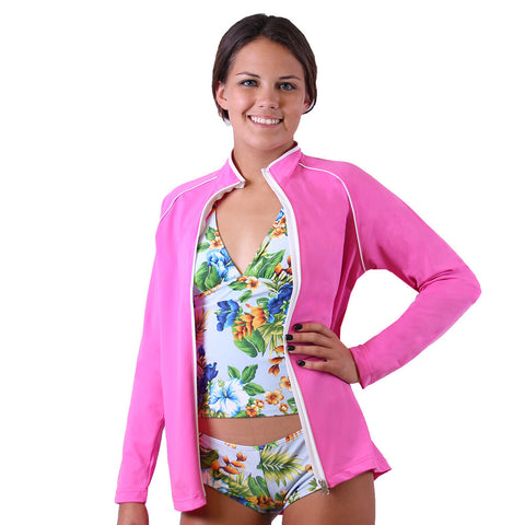 UPF 50+ Sun Protective women's long sleeved swim shirt