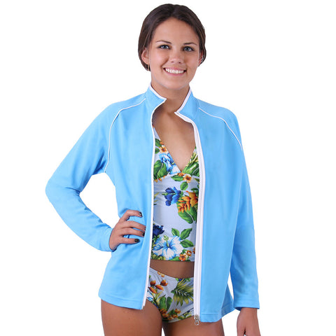Sun Protective women's long sleeved swim shirt