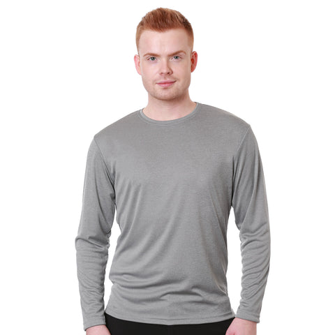 Nozone men's relaxed fit t shirt UPF 50+ in athletic gray sun protective breathable