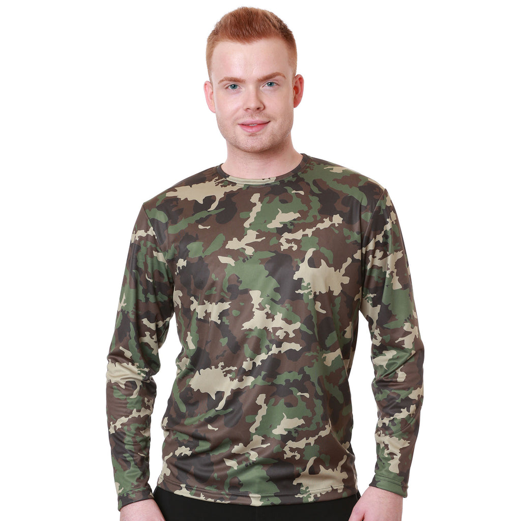 Nozone men's loose relaxed comfortable lightweight fit t shirt UPF 50+ in camouflage camo