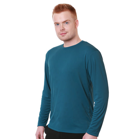 Nozone relaxed fit men's performance shirt sun blocking UPF 50+ in ink blue lightweight