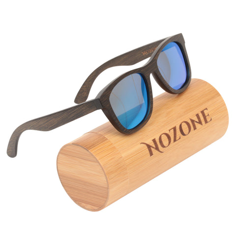 Brown Bamboo UV400 Polarized Sunglasses for Adults