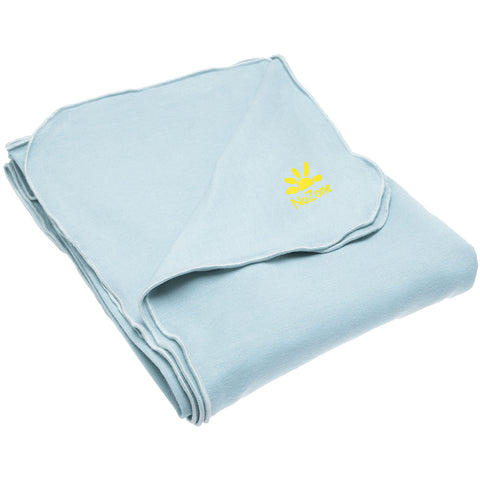 Nozone Baby Blanket Sun protective upf 50+ baby bamboo lightweight gender neutral light soft baby blue