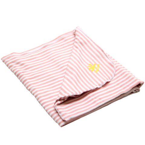 Nozone upf 50 baby girls pink striped sun blanket soft bamboo sun protection