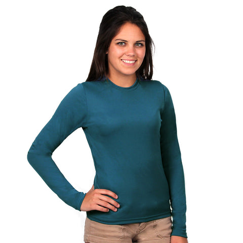 Women's UV safe long sleeve shirt by Nozone in Ink Blue