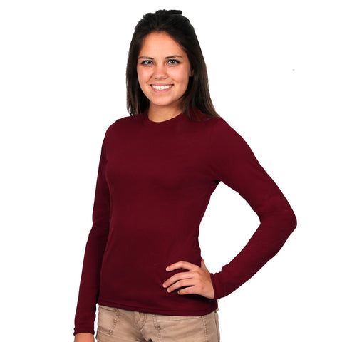 Long Sleeved sun protective ladies shirt by Nozone in Ruby Wine