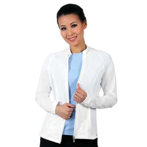 Nozone UPF 50+ Women's White Jacket