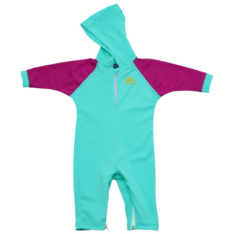 Nozone baby boys girls blue purple Kailua UV protective hooded swimsuit breathable lightweight