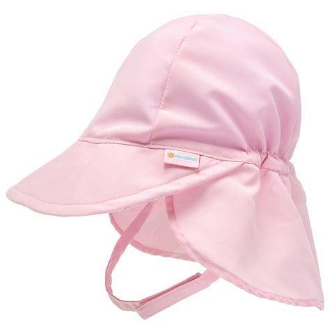 Nozone UPF Protective sun blocking Baby Sun Hat in soft light pink breathable