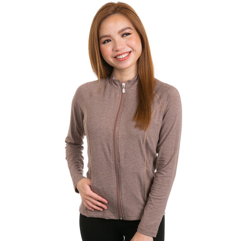 Nozone Women's lanai bamboo UPF long sleeved shirt - brown