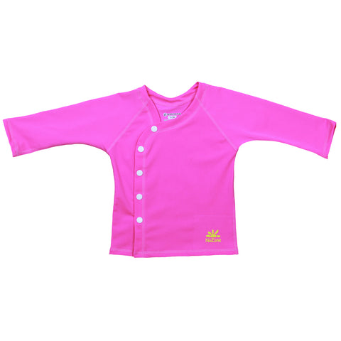nozone baby girl beach wrap cover up shirt pink