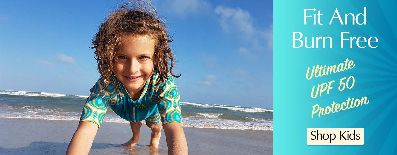 sun protective swimsuits and clothing for children from NoZone