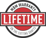 Lifetime Warranty for Cutting Shafts