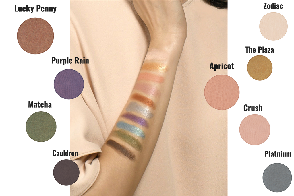 Build your own suite of high-pigment eyeshadows from a selection of 60+ colors in matte, metallic, and shimmer.