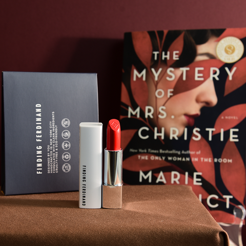 the mystery of Agatha Christie Red Herring Lipstick