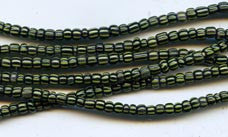 Vintage Black and Yellow Small Ghana Glass Beads BA-A4ACB
