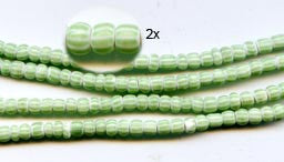 Green Striped Ghana Glass Beads BA-A6AG