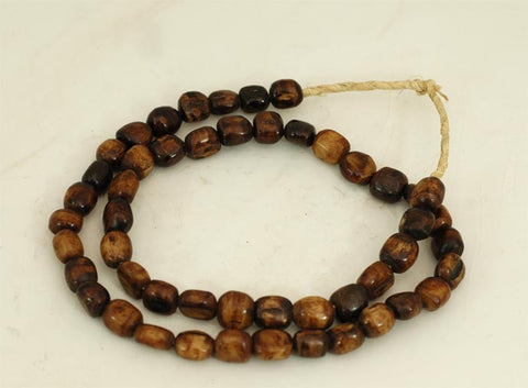 Dark Small Round Bone Bead Strand BA-B07B