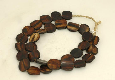 Dark Disc Bone Bead Strand BA-B08B