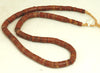 African Bauxite Roundell Bead Strand BA-BX1M