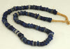 Cobalt Blue Hand Blown Glass Ring Beads BA-DG1B