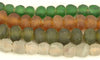 Recycled Glass Ghana Small Round Bead - 4 Colors