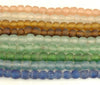 Recycled Glass Ghana Smallest Round Bead - 5 Colors