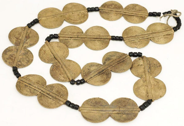African Circle Brass Ceremonial Bead Strand BA-MA54