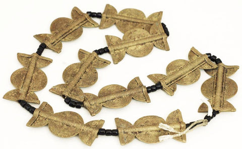 African Brass Ceremonial Bead Strand BA-MA55