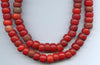Vintage African Red Glass Padre Bead  BA-P92