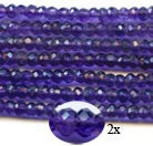 4mm Dark Amethyst Faceted Roundells