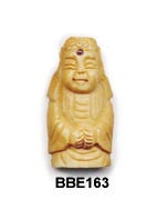 Bone Buddha bead with Tourmaline  BBE163