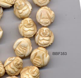 20mm Buddha Bone Bead BBF353
